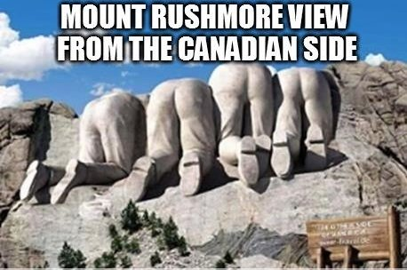Mt rushmore from the canadian side