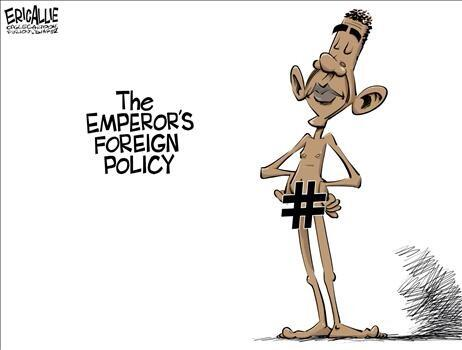obama cartoon naked foreign policy