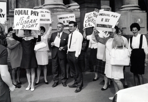 1969 - Equal Pay rally at the Trades Hall, Carlton, Victoria.