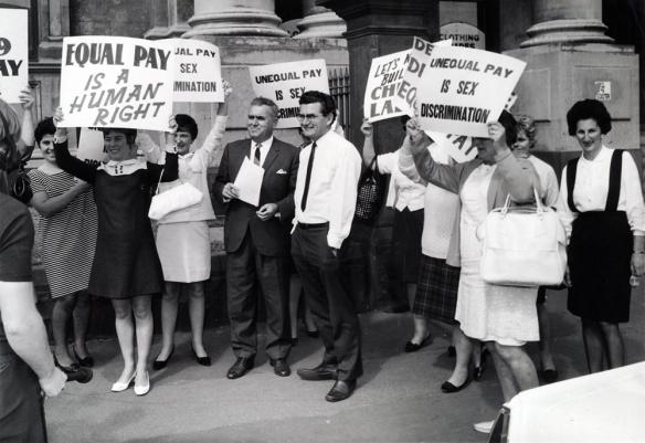 1969 - Equal Pay rally at the Trades Hall, Carlton, Victoria.