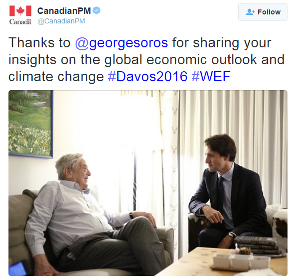 soros and trudeau