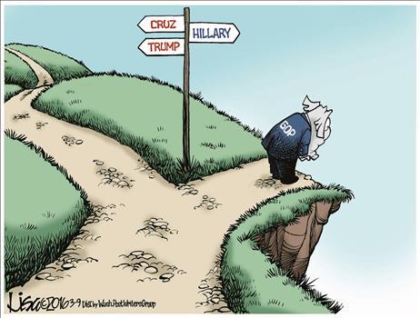 trump cruz hillary paths