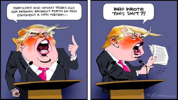 trump leak cartoon