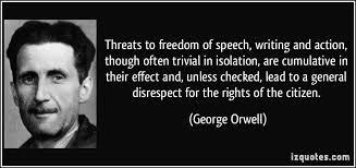 orwell threats to freedom